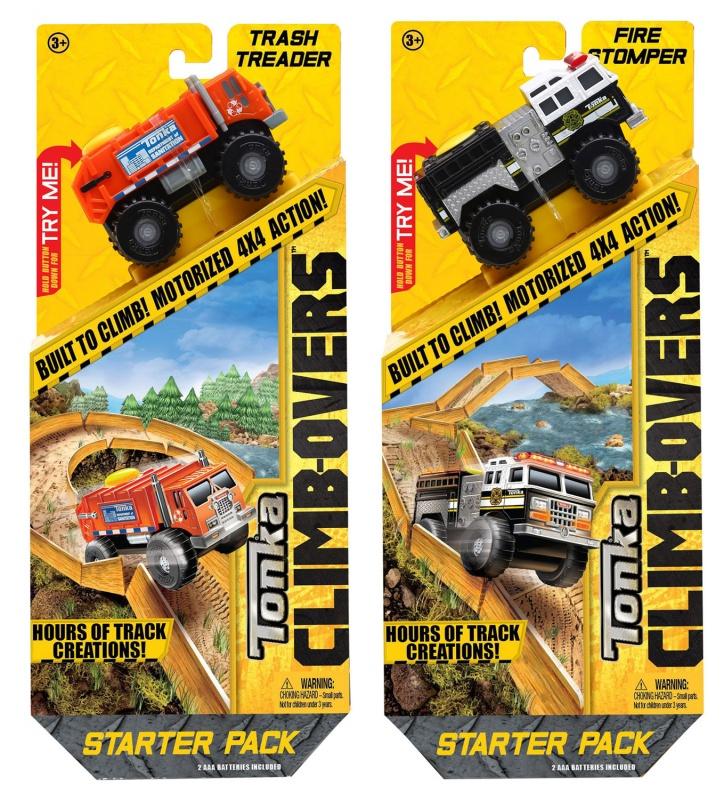 Игровой набор Tonka Climb-overs - Трек с машинкойИгровой набор Трек с машинкой, представленный производителем Tonka, состоит из деталей для сборки полотна трека и грузовой машинки, участвующей в гонках. Машинка имеет мощные колеса, которые не позволяют ей сойти с трассы. Грузовик устойчив и может преодолевать длинные расстояния. Машинка работает от батареек. Детали трассы представлены прямыми и закругленными элементами. Ребенку будет интересно наблюдать за движением машинки по треку, представляя себя водителем этого автомобиля. серии.Внимание, игрушка в ассортименте. При заказе необходимо указать желаемый вариант в поле комментарииВыбор из TRASH THREADER и FIRE STOMPER<br>