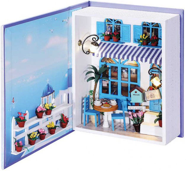Купить со скидкой Набор для создания миниатюры Белоснежка Кафе в Санторини