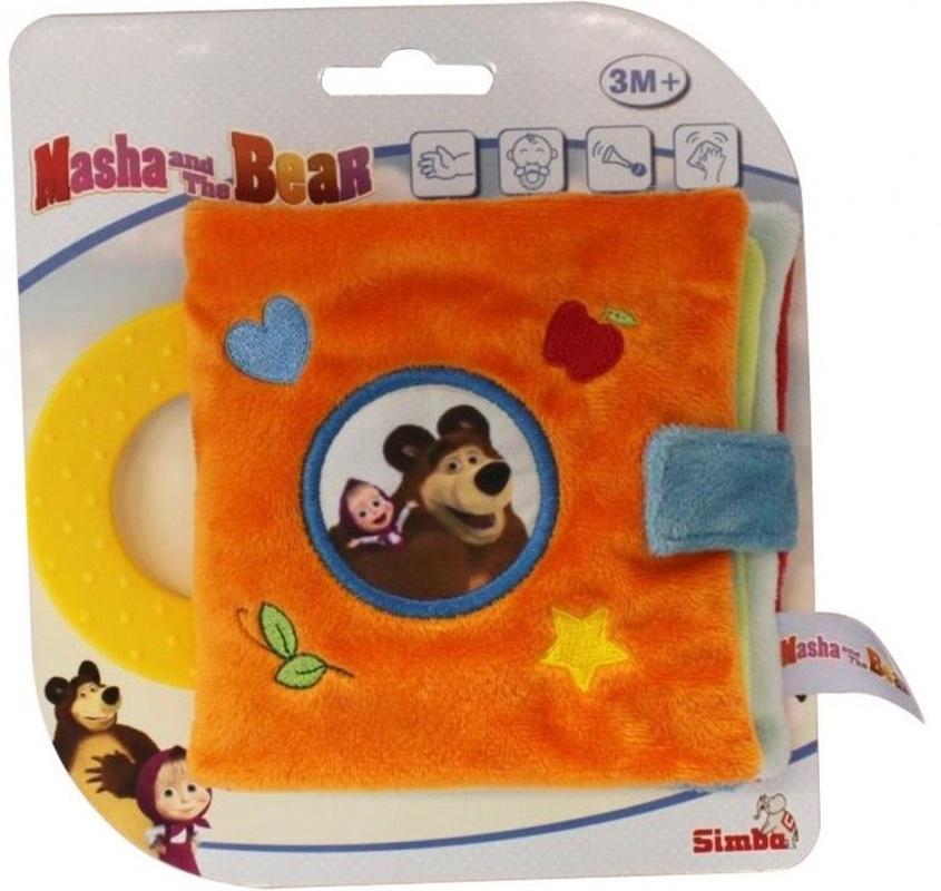 Плюшевая мини-книжка Simba Маша и Медведь  simba плюшевая книжечка маша и медведь