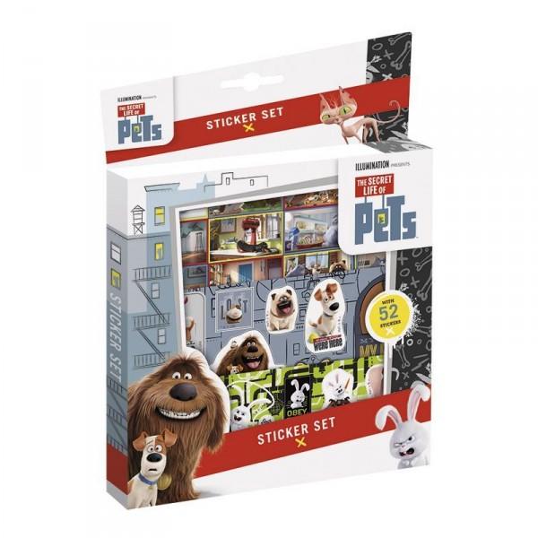 Наклейки Тайная жизнь домашних животных 52 шт.Набор для творчеста Тайная жизнь домашних животных наклейки.В комплект входит 52 шт.<br>