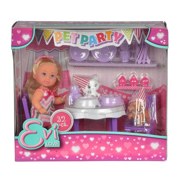 Купить Набор Кукла Еви. Вечеринка для домашних любимцев , 32 предмета