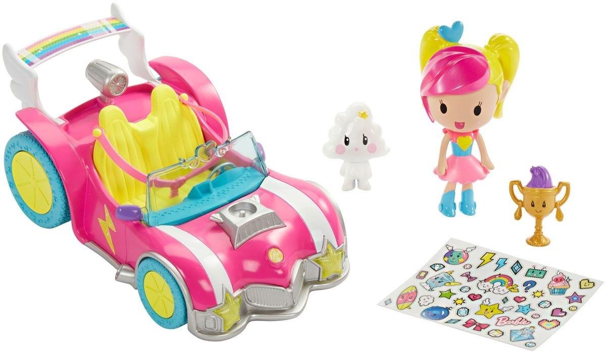 BRB Автомобиль из серии «Barbie и виртуальный мир» barbie кукла геймер из серии barbie и виртуальный мир