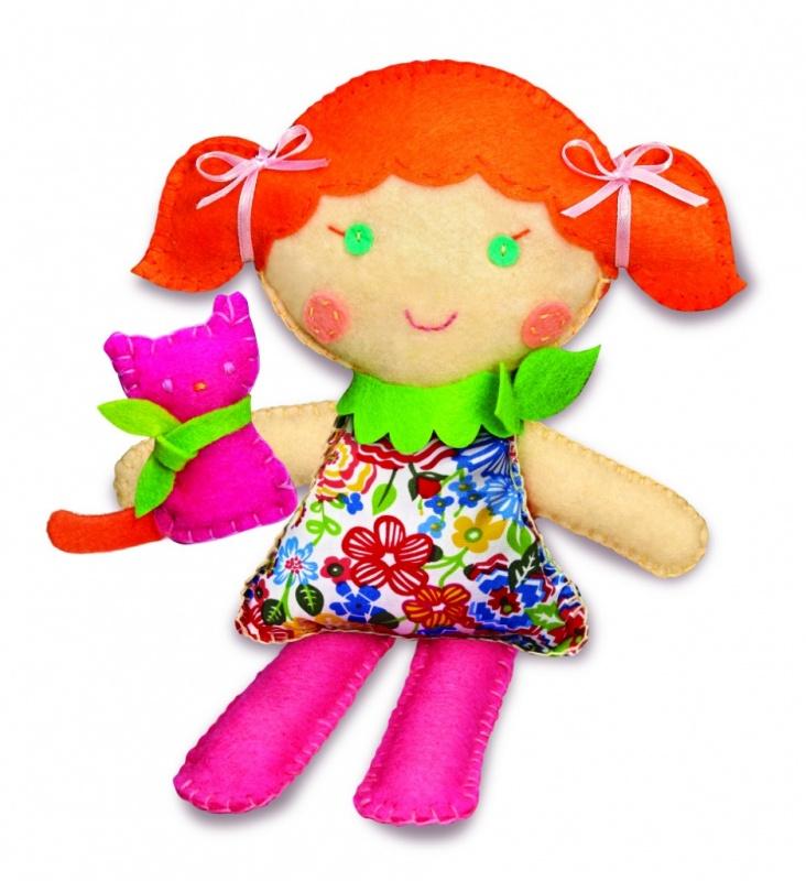 Набор для творчества Школа шитья - Кукла и котенок