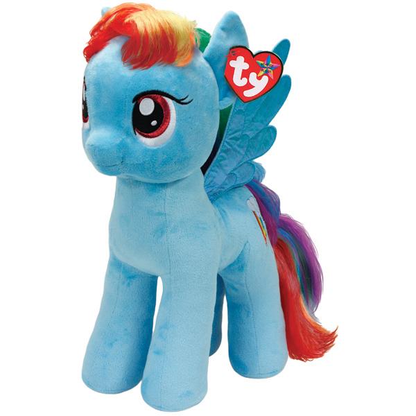 Мягкая игрушка Пони Rainbow Dash My Little Pony, 42 смЗамечательная Пони Rainbow Dash станет самым лучшим другом вашему малышу. Она представляет новую коллекцию мягких игрушек My Little Pony. Особенность игрушки в том, что она понравится как мальчикам , так и девочкам.Замечательная Пони Rainbow Dash с невероятно добрыми искренними глазками еще никого не оставляла равнодушным! У пони мягкая шерстка, а также очень оригинальный окрас. У Пони разноцветная грива и шерстка голубого цвета.Игрушка развивает:- тактильные навыки,- зрительную координацию,- мелкую моторику рук.Материал:- ткань,- пластик,- искусственный мех.Дополнительно:Наполнение : синтепон.Высота игрушки: 42 см.Возраст: 4+.#счетырехлет#дошкольники#длядевочек<br>