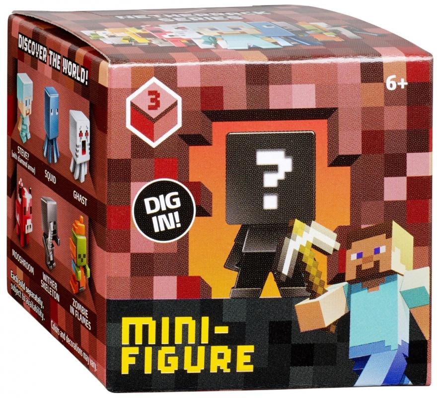 Игрушка-сюрприз в коробке - Фигурка персонажей МайнкрафтСоберите целую коллекцию фигурок с изображением персонажей полюбившейся игры Minecraft! В каждой коробочке прячется один из героев. Само собой, вы и не догадываетесь, какой именно, но ведь именно это и интересно.Вне сомнений, любой поклонник этой популярной игры будет рад видеть коллекцию ее героев у себя на полке, а сколько эмоций он получит, собирая ее!Внимание! Игрушки представлены в ассортименте, цена указана за 1 коробочку с 1 фигуркой внутри. Без возможности выбора (игрушка-сюрприз).Возраст: от 6 летДля мальчиков и девочекМатериалы: пластик.Размер упаковки: 5 х 5 х 5 см.Вес фигурки: 9 гр.<br>