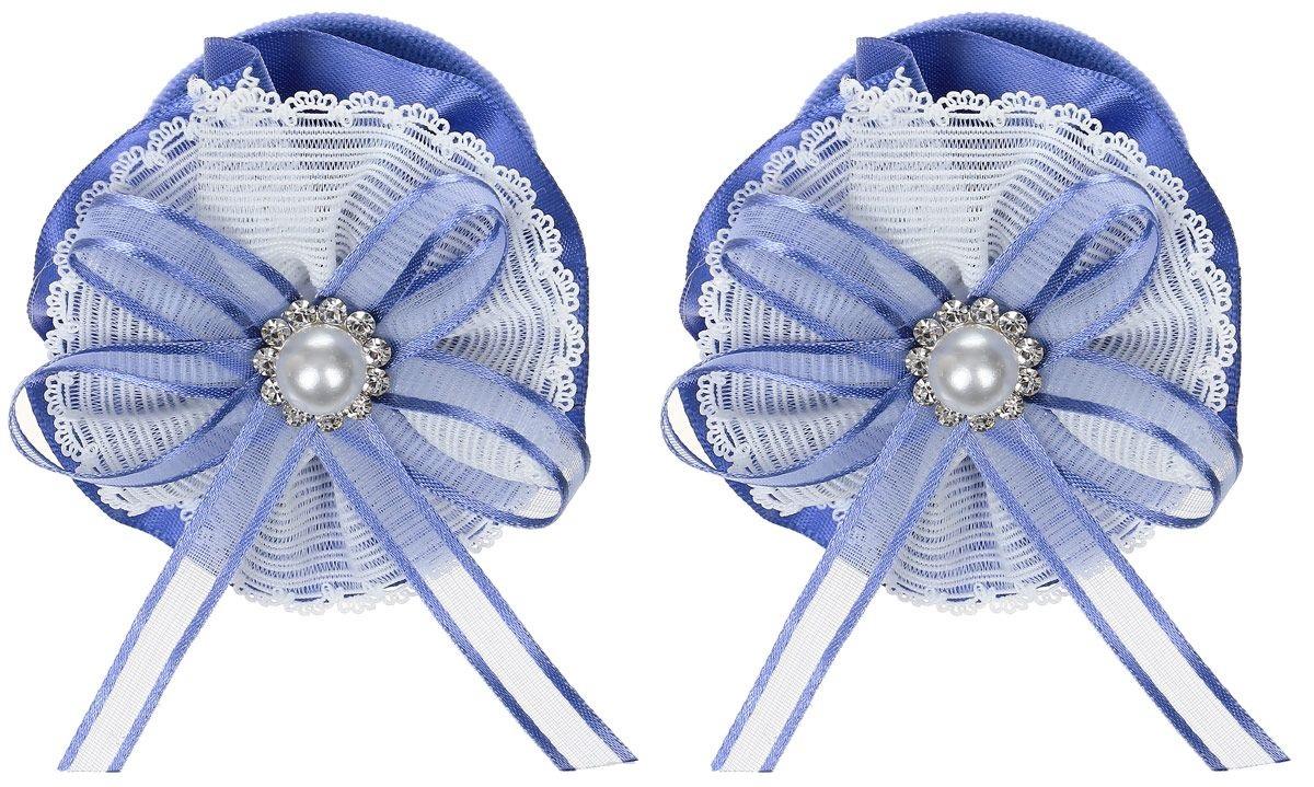 Baby's Joy Резинка для волос Цветок цвет синий белый 2 шт MN 207/2 baby s joy резинка для волос цвет оранжевый 2 шт al 970