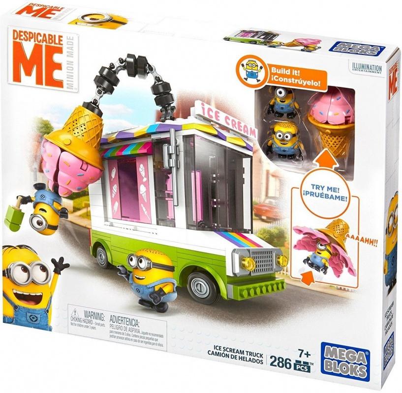 Mega Bloks Фургончик с мороженным серии Миньоны mega bloks гадкий я конструктор грузовичок с мороженым