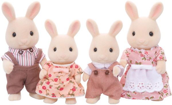 Купить Набор Sylvanian Families. Семья Молочных Кроликов