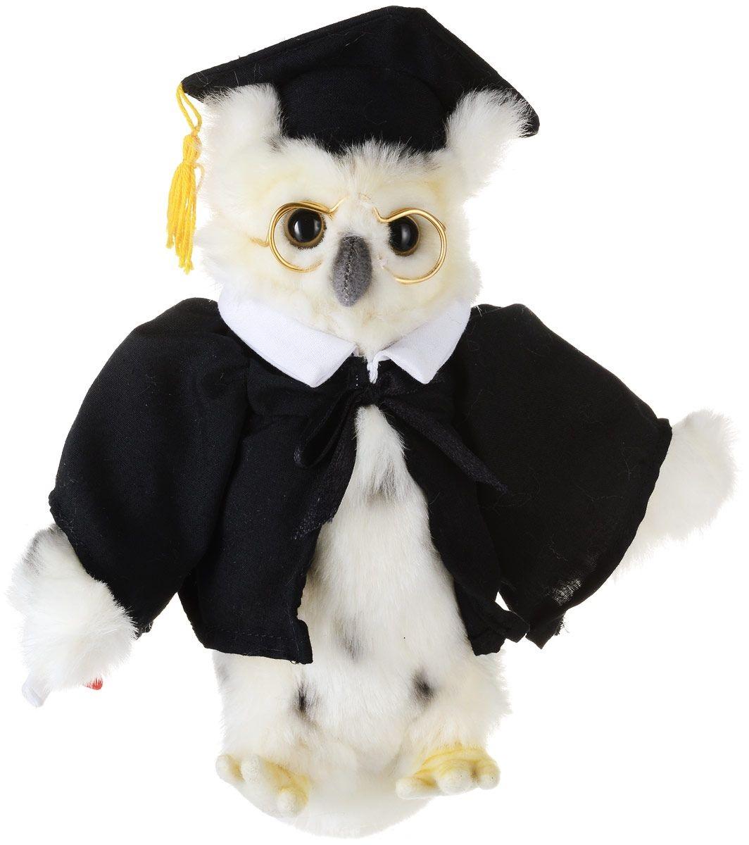 6326 Сова выпускник, 18 см мягкая игрушка сова hansa сова выпускник искусственный мех синтепон белый 18 см 6326