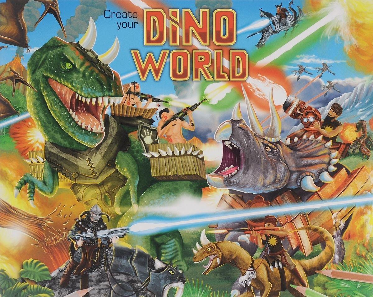 Creative Studio Альбом с наклейками Создай мир динозавровСоздай свой парк динозавров. С открытием каждой страницы дети раскроют фантастический мир динозавров. Дети могут украсить каждую сцену наклейками с динозаврами, завоевателями и другими фантастическими жителями джунглей.<br>