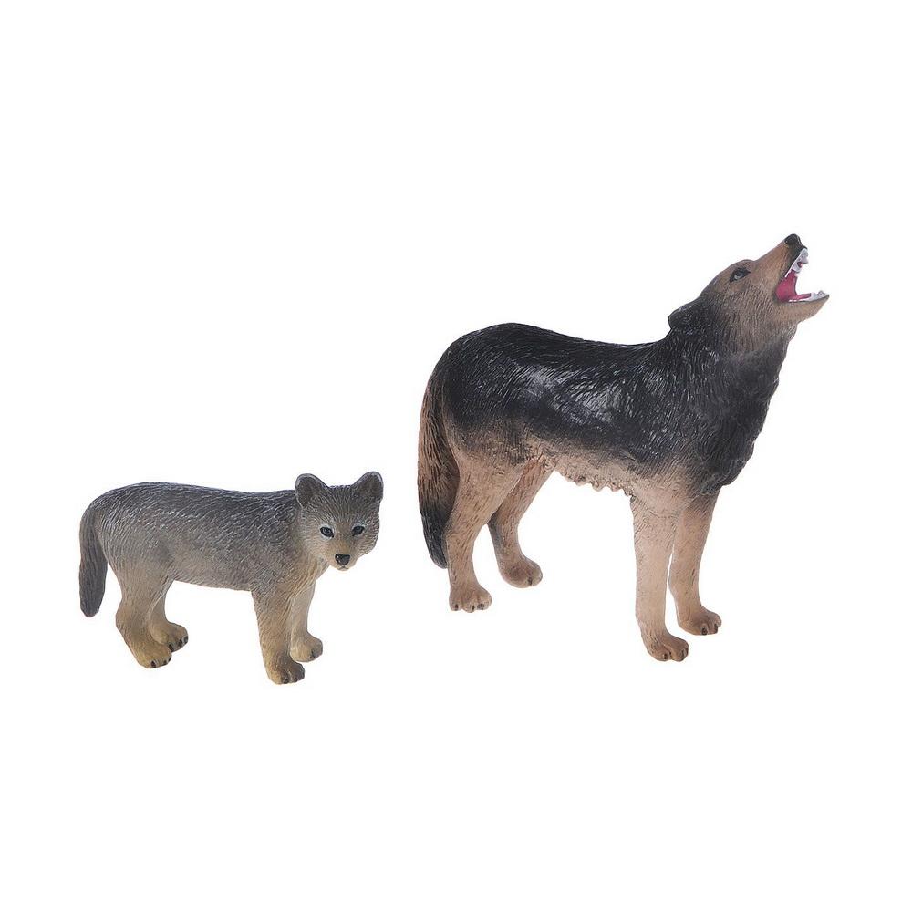Воющий волк (M) и Волчонок (S)Большинство волков - хищники среднего и большого размера, наиболее крупными являются серый и полярный волки: их рост в холке может достигать 85 см, а длина туловища без учета хвоста составляет 150-160 см. Размер и вес хищников полностью соответствуют правилу Бергмана: чем суровее среда обитания - тем крупнее зверь, поэтому самые большие волки весом до 85-90 кг обитают в Сибири, хотя средняя масса волка составляет около 35-50 кг. Самые мелкие - это аравийские волки, их максимальный рост в холке составляет всего 66 см, а вес самок не превышает 10 кг. У любой разновидности волков самки мельче самцов.Фигурки Mojo познакомят детей с окружающим миром, развивают творческие способности и расширяют возможности ролевых игр. Все фигурки выполнены из высококачественных материалов с максимальной точностью и раскрашены вручную.<br>