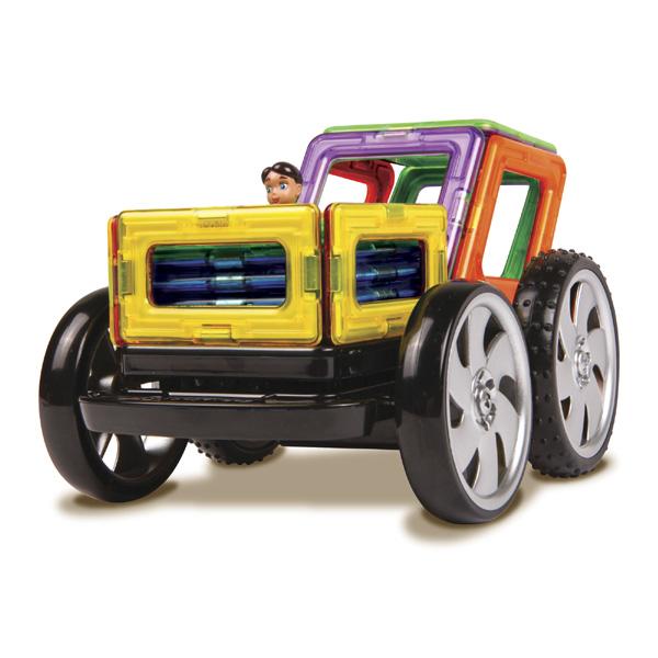 Магнитный конструктор Magformers Racing set«Magformers Racing Set» — это Magformers на дистанционном управлении! Набор «Magformers Racing Set» идеален и как развитие вашей коллекции Магформерс, и как первый конструктор Магформерс у вас дома. Ведь все детали Magformers на 100% совместимы друг с другом!<br>