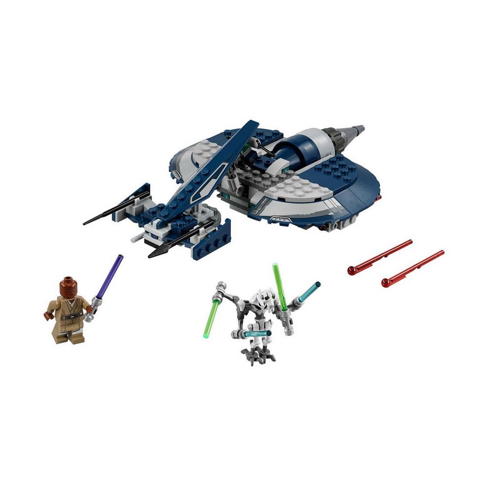 75199 Star Wars TM Боевой спидер генерала ГривусаКонструктор Боевой спидер генерала Гривуса от производителя Лего предназначен для поклонников популярной франшизы Звездные войны. Он состоит из 157 деталей.Соединив части набора General Grievous Combat Speeder между собой, можно будет получить миниатюрную копию воздушного судна одного из антагонистов саги Star Wars. Игрушечный транспорт обладает внушительными размерами. Он оснащен двумя мощными пушками и специальными отсеками для хранения световых мечей.Закончив сборку, дети смогут приступить к воплощению моментов из фильма Война клонов, используя две минифигурки. Им предстоит разыграть известную сцену, в которой генерал Гривус на своем корабле отправляется на поиски джедая Мейса Винду, чтобы сразиться с ним. Исход битвы между этими героями зависит лишь от фантазии девочек и мальчиков.<br>