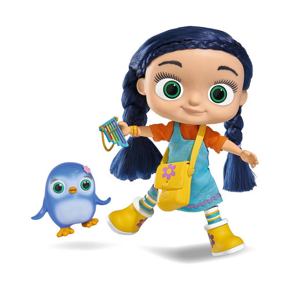 Базовый набор Висспер кукла Висспер, фигурка Пэгги, аксессуарыИгровой набор Висспер сможет понравиться любителям этого замечательного и доброго мультфильма. Wissper - девочка 7 лет, которая может разговаривать с животными. Животные всегда обращаются к ней за помощью, а Висспер помогает им. С помощью волшебной флейты она может волшебным образом переместиться в то место, где животное попало в опасность.У куклы Wissper красивые темные волосы, которые заплетены в 2 косы. Волосы можно расчесывать и укладывать в разные прически. На нее надета кофта оранжевого цвета и голубой сарафан. Большие глаза игрушки отражают ее любовь к беззащитным зверькам. В наборе есть фигурка маленького пингвина Пэгги и много разных аксессуаров: расческа, зеркальце, небольшая сумочка, флейта и бинокль.С таким игровым набором ребенок сможет воссоздать любимые моменты из мультика или придумать новые сюжеты с Висспер и Пэгги.<br>