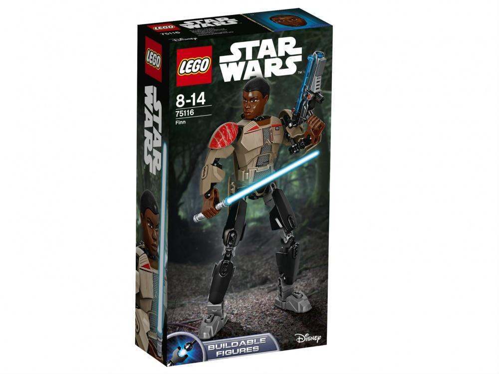 Конструктор Lego Star Wars ФиннДоставай свой световой меч и помоги Финну сразить любого врага, который встретится на его пути благодаря новой невероятной функции, позволяющей фигуре взмахнуть рукой! В наборе с этим закаленным боями воином идёт серьёзное оружие, поэтому солдатам Первого Ордена лучше держаться от него подальше.<br>