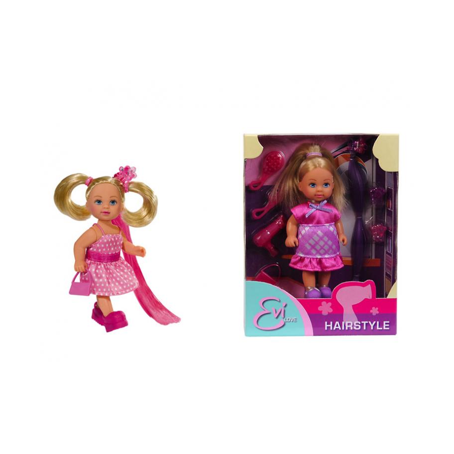 Еви супер-волосыВаша девочка обязательно оценит Еви и ее супер-волосы. В наборе с куклой есть все необходимое для игры: щетка, расческа, маленькая сумочка, 3 больших и 3 маленьких заколки для куклы и 2 пряди ярких «искусственных волос», которые можно вплетать в прическу. Сама Еви как всегда прекрасно одета. Кукла сделана из высококачественного пластика. У нее подвижные ручки и ножки. Благодаря своей компактности, Еви можно брать с собой в дальние путешествия! Она не займет много места, а расставаться с ней не захочется! Играя с куклой, ваша девочка придумает множество сюжетно-ролевых игр. В игре будут развиваться творческие способности, фантазия, воображение и артистические навыки, а также внимательность, мелкая моторика и координация движения рук. Более того, забота о кукле воспитает в девочке все самые положительные качества!Внимание! Кукла представлена в ассортименте. Желаемый вид куклы указывать в комментарии к заказу.<br>