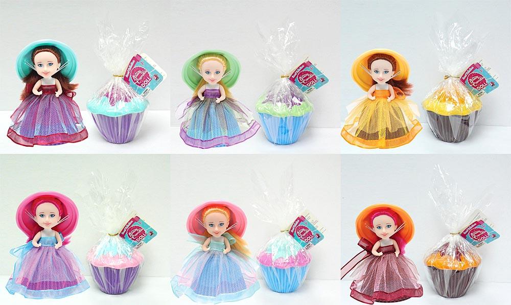 Куколка-капкейк, 6 видов в ассортименте, в пакетике 15.25 см.Оригинальная игрушкаКукла в красивой шляпке и пышном платье способна превращаться в пирожное и обратно всего в одно простое нажатие. Такая оригинальная игрушка способно удивить любого ребенка и увлечь его на многие часы игры. В ассортименте присутствует шесть разных моделей, который отличаются внешностью и одеждой. Каждая игрушка тщательно проработана и детализирована, что позволит вашей дочке развивать фантазию и воображение.Качество и безопасность        Игрушки изготовлены из прочного пластика, который не выделяет токсичных испарений и пригоден для самой долгой игры. Текстиль, применяемый для изготовления платьев, исключает вероятность аллергических реакций и раздражений организма. Благодаря этому вы можете быть уверены в полной безопасности игрушек для ребенка.Заказ и доставкаВы сможете купить куколку-капкейк в нашем магазине по доступной и привлекательной цене, а также легко оформите доставку в любой регион России.<br>