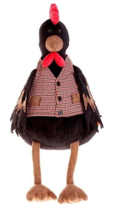 Петушок Савва 20Познакомьтесь - это Петушок Савва. Савва может быть и выглядит серьезным и немножко строгим, но на самом деле он добрейшей души птица. Савва отличается шелковистымичерными перьями, которыми очень гордится и ярко красным гребешком, который видно издалека. Савва любит носить жилетку в клеточку с красивыми карманами, потому чтоэто стильно и удобно. А главное - она очень нравится его подруге Варе.Размер игрушки указан в сидячем положении, без учета длины лап. Качество подтверждено российскими сертификатами соответствия. Изготовлено из гипоаллергенных материалов.Состав: Наполнитель - волокно полиэфирное и полиэтиленовые гранулы. Мех искусственный, трикотажный. Фурнитура из пластмассы. Срок службы не ограничен. Правила ухода: ручная стирка при температуре 30°.<br>