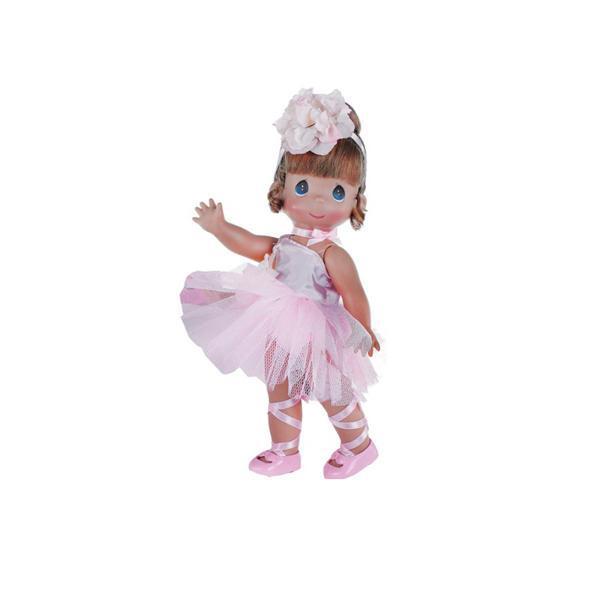 Кукла Precious Moments Балерина, рыжая, 30 см.Удивительная коллекционная кукла не оставит равнодушным ни одного ценителя.Кукла изготовлена из винила и имеют пять базовых точек артикуляции.Волосы у куклы сделаны из качественного синтетического волокна. Кукла одета в нарядный костюм.<br>