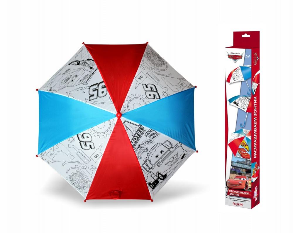 Чудо-Тв. Disney Pixar™ Зонтик д/раскрашивания Тачки 2. Молния МакКуин и Мэтр, арт. 01336 disney набор для раскрашивания рюкзака pixar тачки