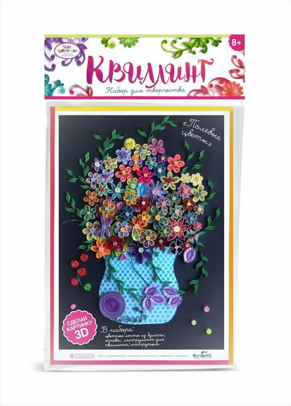 Купить Чудо-Тв. Набор для квиллинга «Полевые цветы». 21, 5*36 см. Арт. 02224