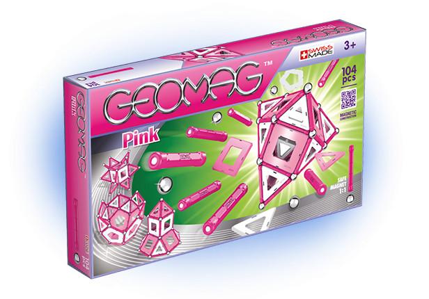 Конструктор магнитный Geomag Pink, 104 деталиОригинальный конструктор Geomag состоящий из магнитных палочек и хромированных стальных шариков. Позволяет собирать огромное количество геометрических форм любых размеров. Разнообразие данной серии добавили пластиковые панели, которые могут служить перегородками для объемных конструкций или оболочкой для фигур различной формы.В наборе: 104 детали.Материал: пластик, металл, магниты.Возраст: 3+.<br>