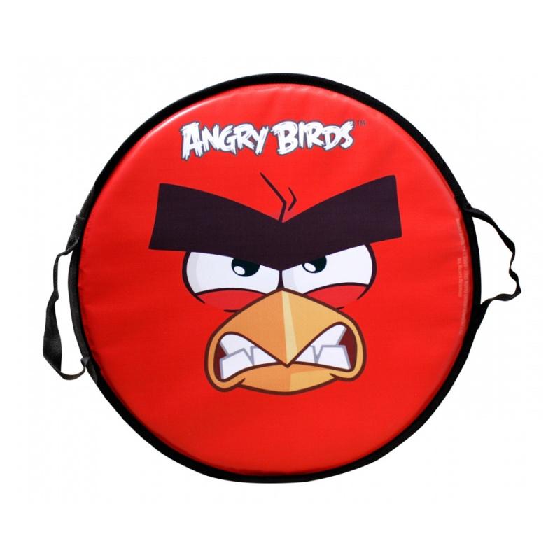 Круглая ледянка Angry Birds - Красная птица, 52 см.Ледянка создана для веселого катания детей с горки. Чтобы ребенок легко маневрировал, имеются две ручки из плотной ткани. На лицевой стороне имеется изображение красной птицы, вожака стаи из популярной игры Энгри Бердз. Красная птица непримирима в борьбе со свиньями и известна своей заботой о яйцах.В зимнее время года спуск с ледяной или снежной горки доставит ребенку необыкновенное удовольствие и радость.<br>