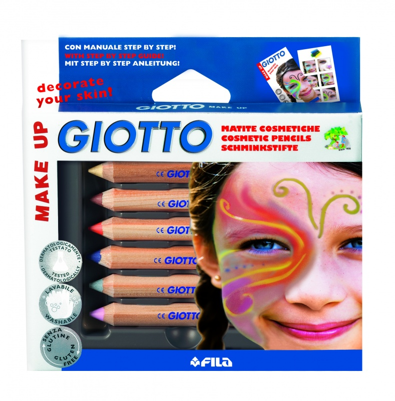 GIOTTO MAKE UP CLASSIC Набор из 6 классических цветов карандашей для грима набор д творчества giotto make up classic набор д грима 6 классических цветов карандашей 470200