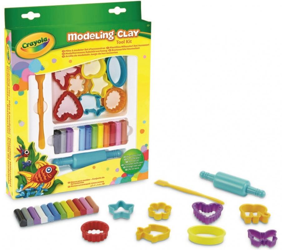 Набор для творчества С-Трейд с незасыхающим пластилиномНабор незасыхающего пластилина от компании Crayola - это не только безвредный пластилин, с которым могут играть даже самые маленькие, но и восемь формочек, скалка и стек, позволяющие ребенку лучше воплощать свой замысел, или наоборот, делать что-либо необычное и интересное при помощи стандартных форм.<br>