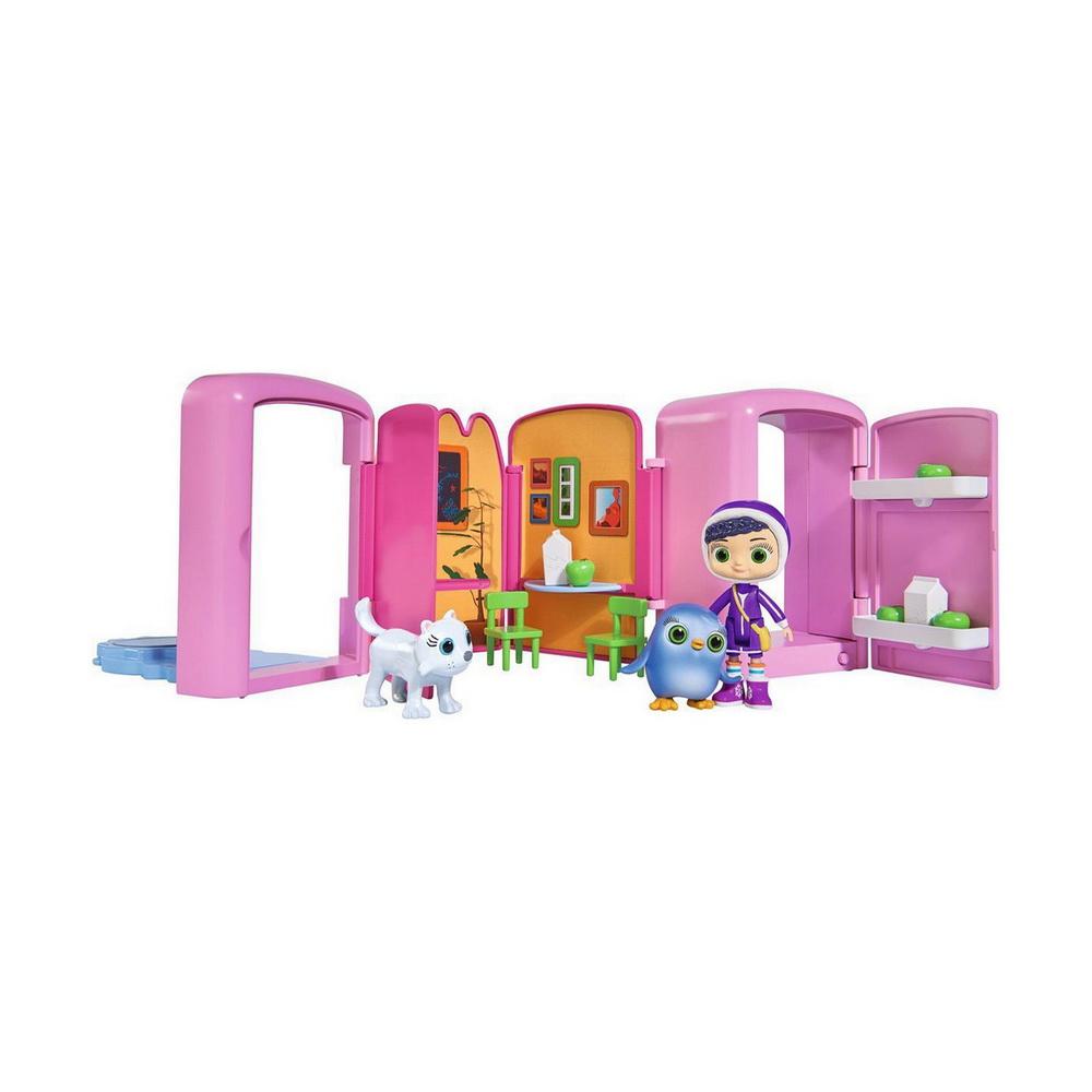 Игровой мини-набор Висспер Ледниковый мирИгровой мини-набор Ледниковый мир из серии Висспер от бренда Simba изготовлен по мотивам известного мультфильма Wissper. Ледниковая композиция превращается в яркий холодильник, наполненный различными аксессуарами. Разнообразить игру помогут фигурки удивительной девочки Висспер и пингвина Пегги.Маленькие поклонницы мультфильма смогут придумать много уникальных игр, основанных на сценарии мультфильма или придуманных самостоятельно. Девочка, говорящая с животными - Висспер станет настоящей подругой для многих ребят.<br>