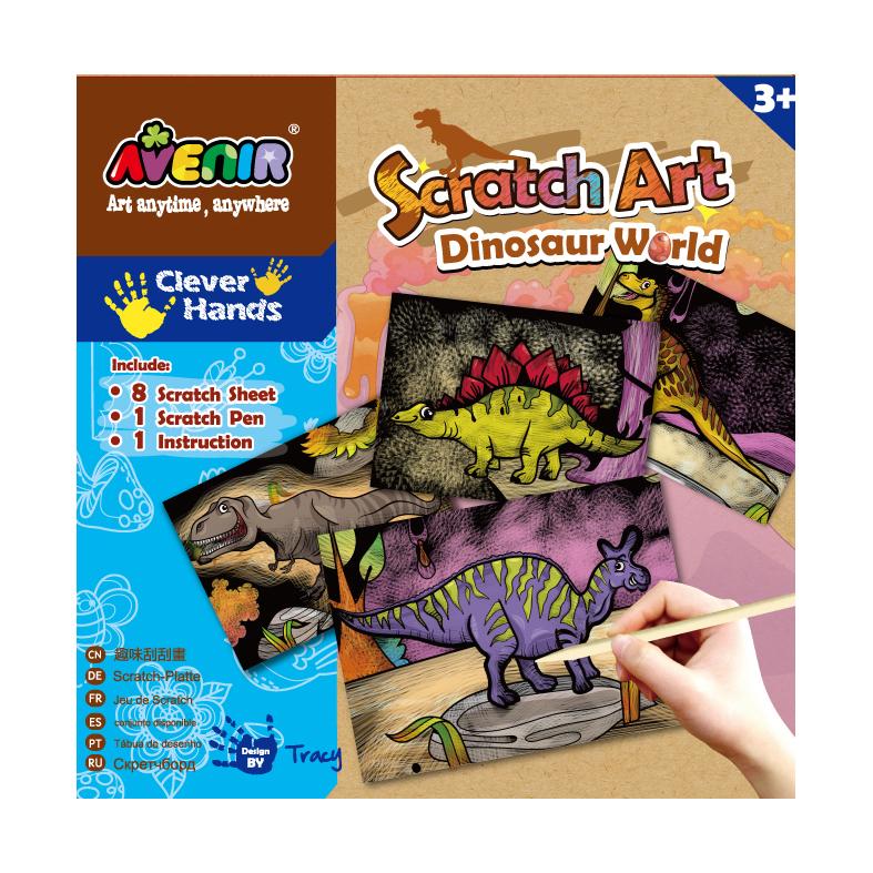 Набор для гравировки Мир ДинозавровНабор для гравировки Мир Динозавров надолго завладеет вниманием многих мальчиков и девочек. Каждый ребенок сможет примерить на себя роль настоящего мастера и создать необычные картинки. В представленном наборе имеется восемь специальных листов с нанесенным рисунком и инструмент для создания гравировки.<br>
