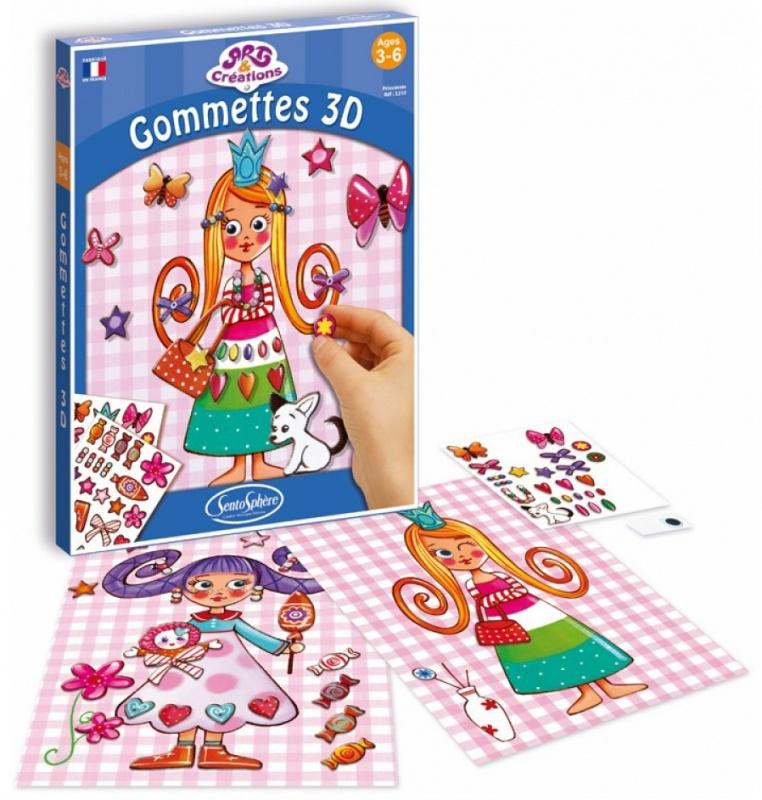 Набор для творчества Sentosphere Принцессы 3D набор для детского творчества украшения из шерсти sentosphere 829