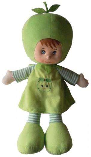 Куклы-Фрукты Coool Toys Девочка Яблочко, 60 см.Мягкая кукла Девочка Яблочко представлена в виде милой девочки в очаровательном зеленом костюмчике, на голове у которой расположена шапочка в виде яблока. Игрушка изготовлена из текстильных материалов с мягким наполнителем, потому особенно приятно будет обнимать такую игрушку перед сном. Благодаря большому размеру, игрушка несомненно порадует ребенка. Такая мягкая кукла не позволит заскучать ребенку и станет для него верным другом<br>