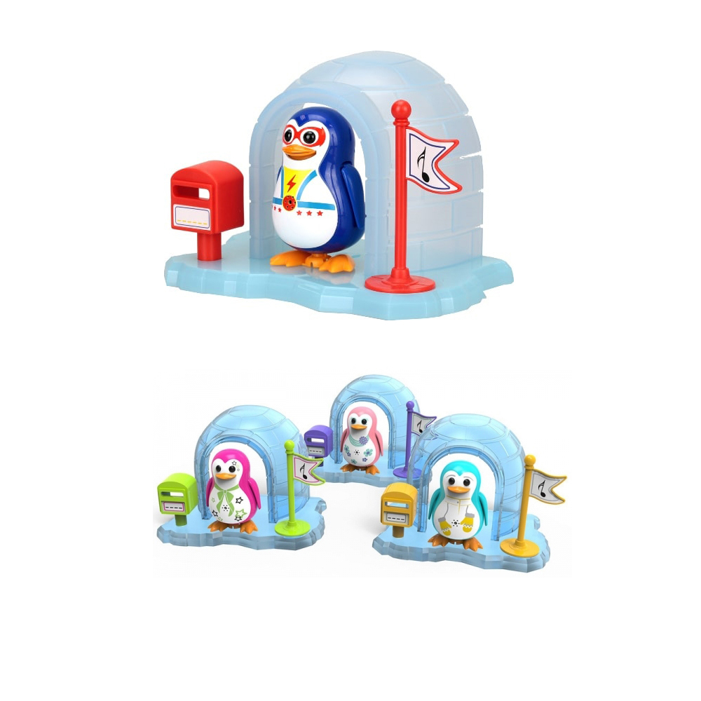 Интерактивная игрушка Пингвин в домике (звук, движение) silverlit digibirds пингвин фигурист с кольцом серый