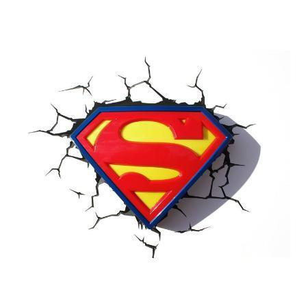 Светильник 3D Superman Logo
