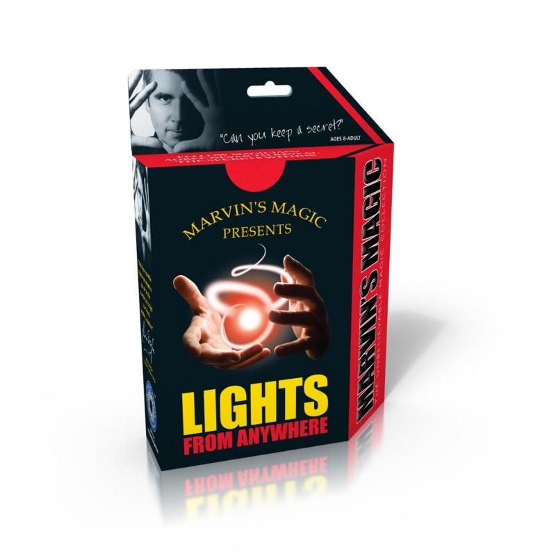Фокусы Marvins. Магический свет откуда угодноСоздавайте свет откуда угодно. Этот магический трюк выручит в любой ситуации. Мистический красный свет появляется откуда угодно, затем при помощи магии его можно контролировать. Заставить его исчезнуть или снова появиться, прыгать из руки в руку, прятаться в карманах и сумках. Ошеломите своих друзей с этим простым в исполнении фокусом. Для детей от 8 лет<br>