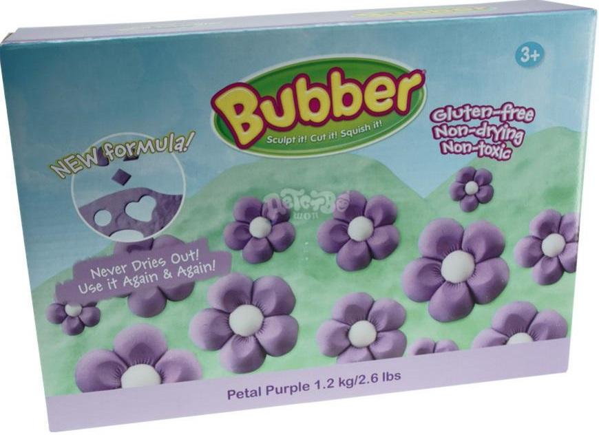Масса для лепки Waba Fun Bubber, фиолетовая, 1200 гр. песочница надувная waba fun