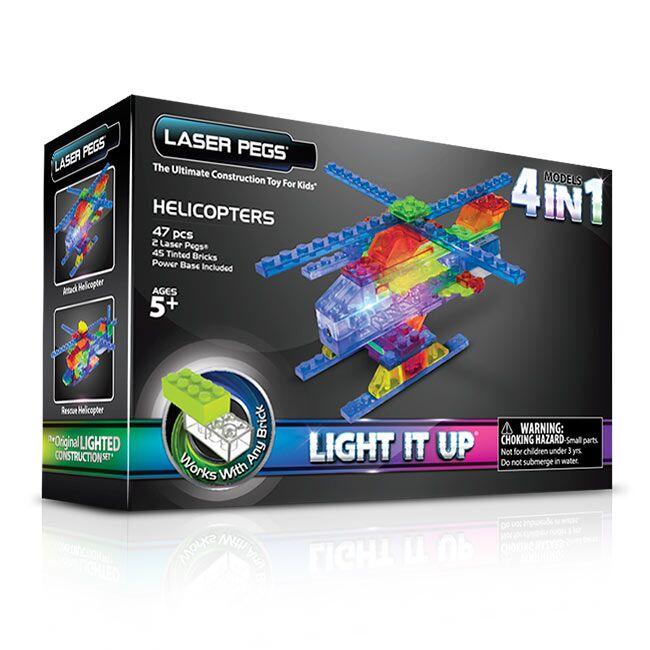 Купить Конструктор Laser Pegs Набор 4 В 1 Серия Mps. Вертолёты