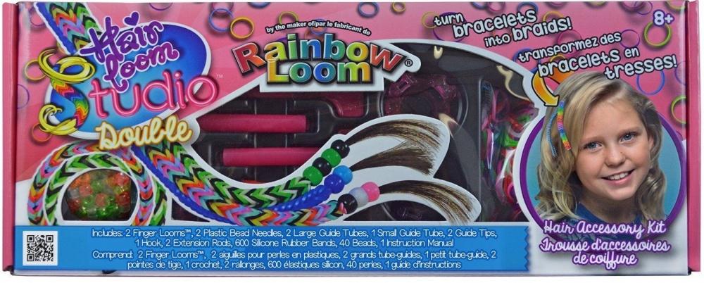 Набор для плетения Rainbow Loom Хэа Лум ДаблНабор для плетения украшений для волос Хэа Лум Дабл позволит создавать великолепные украшения для волос с помощью резиночек Rainbow Loom. Теперь любимые украшения можно вплетать и в прически!<br>