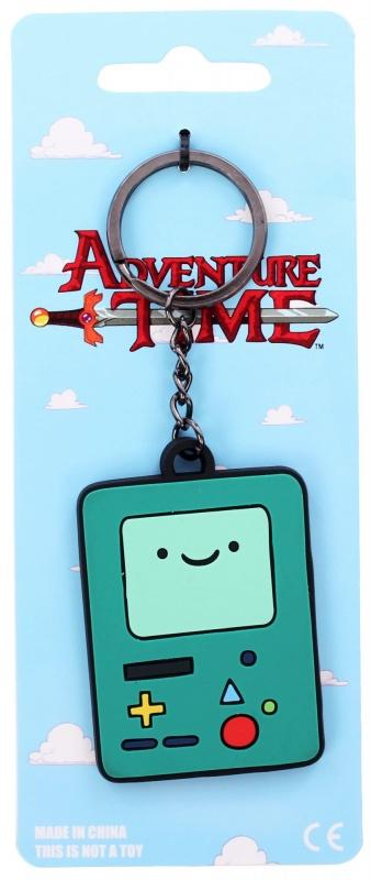 Брелок Adventure Time - BMOБрелок Adventure Time - BMO будет поводом для улыбки у каждого поклонника одной из самых популярных анимационных вселенных - сериала Adventure Time. Бренд  создали брелок из высококачественной резины, используются голубой и зеленый цвета. Резина упругая и прочная, гнется, но не ломается и не перегибается до возникновения трещин. Adventure Time - BMO изображает героя из мультипликационной вселенной Adventure Time, живую игровую консоль, которая помогает главным героям и живет в их доме. Так же БиМО выполняет функции розетки, камеры, будильника, фонарика, видеоплеера, магнитофона, тостера.<br>