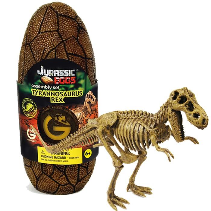 Яйцо динозавра Geoworld - сборная модель Т-Рекс конструкторы geoworld яйца динозавра юрский период спинозавр
