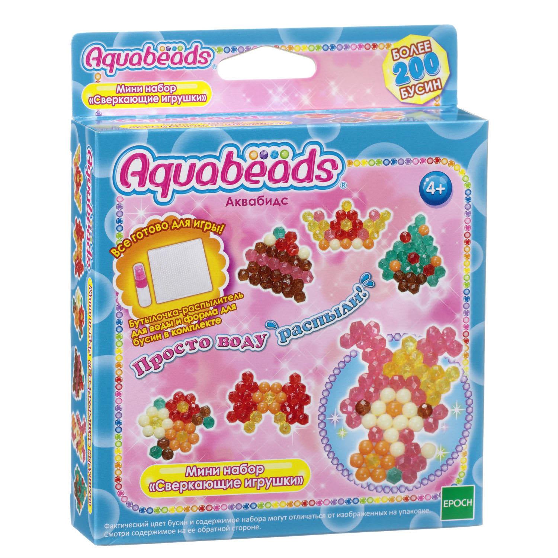 Купить Мини-набор мозаика из бусин Aquabeads - Сверкающие игрушки