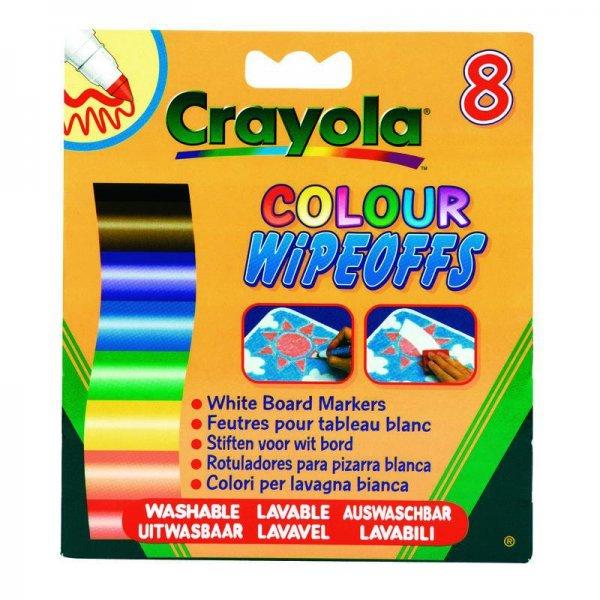 фломастеры для письма на доске Crayola 8 цветов радуги