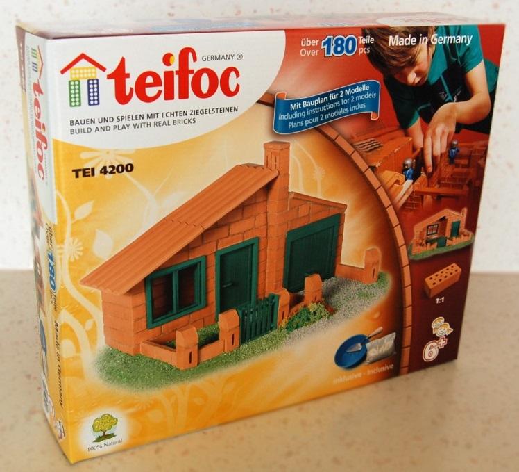 Купить Развивающий конструктор из глиняных кирпичиков Teifoc Домик, 180 деталей