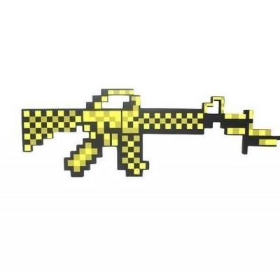 Автомат М16 8Бит золотой пиксельный 62смПредставляем вашему вниманию пиксельный автомат, который поможет превратить восьмибитную вселенную в реальность.Пиксельный автомат не требуют специального ухода. В случае необходимости, его легко можно почистить с помощью влажной тряпочки.Яркий уникальный дизайн делает аксессуары Pixel Crew идеальными подарками любителям пиксельной графики.<br>