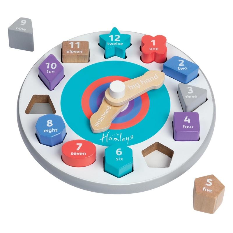 Игрушка деревянная Часы обучающие
