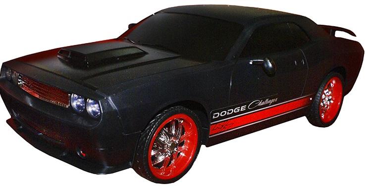 Радиоуправляемая машинка Eztec Dodge Challenger, зарядное устройство+аккумуляторМашинка, которую трудно назвать игрушкой - настолько она близка к оригиналу! Выполненная в масштабе 1:10, DODGE CHALLENGER  даст возможность ребенку не только насладиться ее внешним видом, но и позволит отлично развить у Вашего непоседы координационные и навигационные навыки, так необходимые взрослому водителю. Взаимодействие пульта управления и машинки позволяет ей совершать самые разнообразные маневры - двигаться как вперед, так и назад, выполнять остановки и повороты. Причем радиус действия пульта составляет до 30-35 м. Можете не сомневаться, от такой модели придут в восторг как маленькие, так и большие мужчины! В комплект к машинке идет зарядное устройство и аккумулятор.<br>