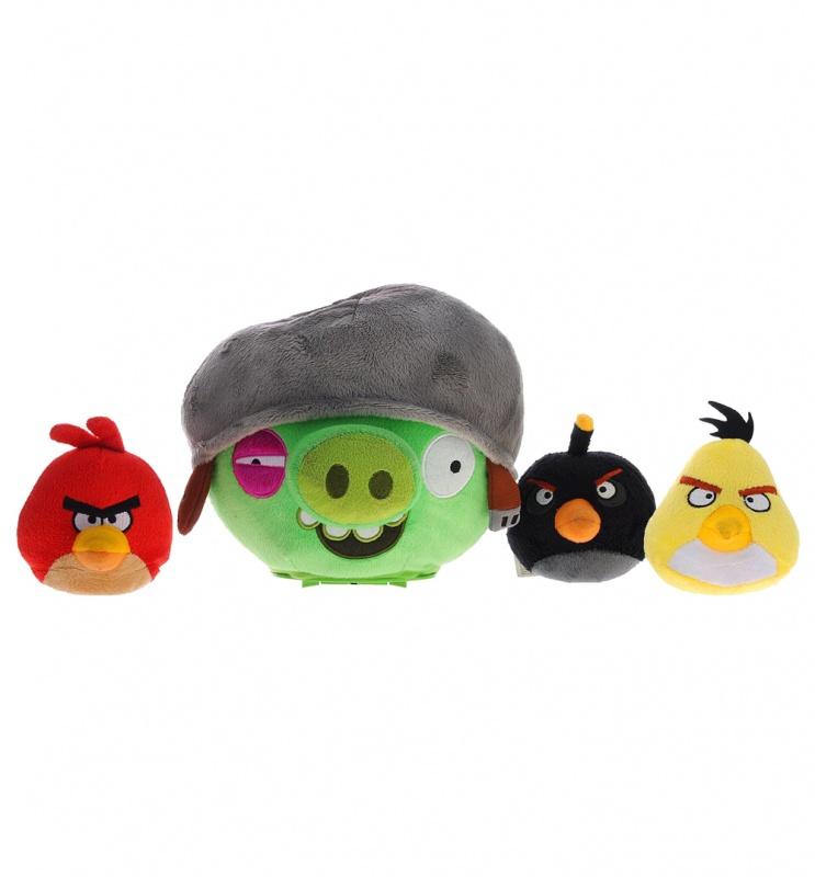 Интерактивная игра Свинка в каске и 3 птички интерактивная игра свинка с 3 птичками angry birds