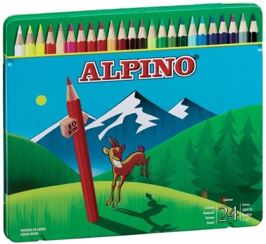 Цветные шестигранные карандаши Alpino, 24 цвета alpino 12 цветов alpino альпино