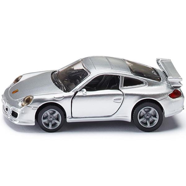 Порше 911Игрушечная модель Porsche 911 (Порше 911). Корпус автомобиля выполнен из металла, лобовое и заднее стёкла из прозрачной тонированной пластмассы, передние двери открываются, колёса выполнены из резины и вращаются, можно катать.Размер упаковки: 98 x 78 мм<br>